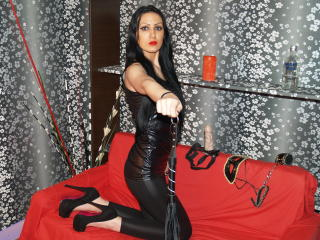 Picture of the sexy profile of MistressDora, for a very hot webcam live show !
