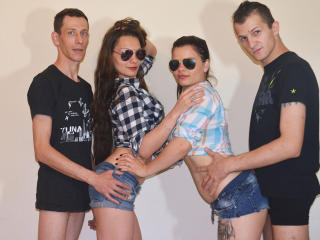 XCrazyFourSomeX - Chat exciting with this brunet Sexual quartet