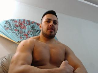 Picture of the sexy profile of AlphaRoGod, for a very hot webcam live show !
